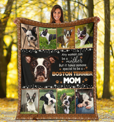 BOSTON TERRIER BLANKET - CHRISTMAS GIFT - TO BE A BOSTON TERRIER MOM - Family Presents - Great Blanket, Canvas, Clothe, Gifts For Family