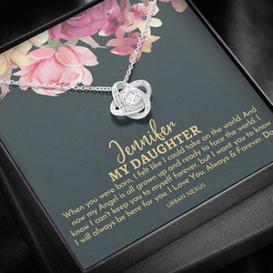 Personalized Daughter Necklace, To My Daughter From Dad, Birthday Gift For Daughter , I Will Always Be Here For You