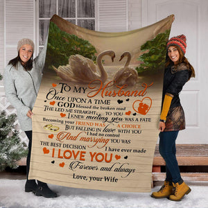 Blanket to my husband - marrying you was the best decision - Gift for him on Valentine
