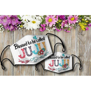 Blessed to be called JUJU Cloth Mask - Family Presents - Great Blanket, Canvas, Clothe, Gifts For Family