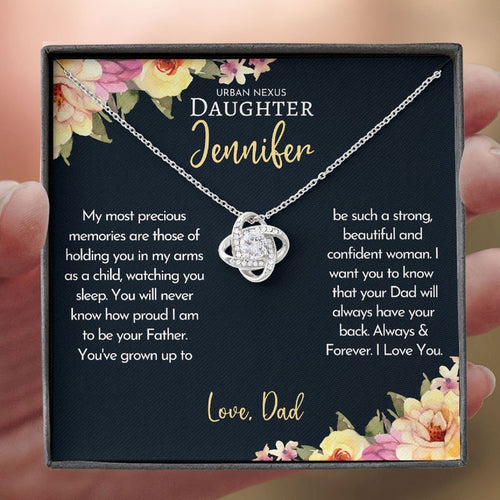 Personalized Daughter Necklace, To My Daughter From Dad, Birthday Gift For Daughter , I Am To Be Your Father