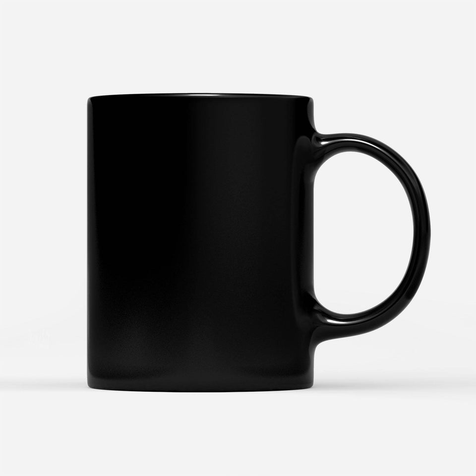 cussing in front of kid - Black Mug