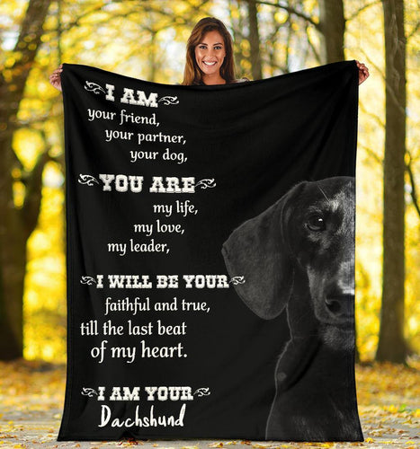 DACHSHUND BLANKET  - CHRISTMAS GIFT - YOU ARE MY DACHSHUND
