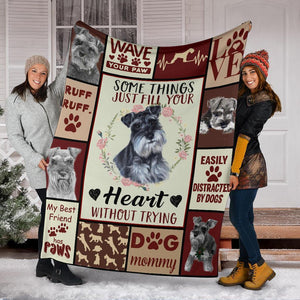 MINIATURE SCHNAUZER BLANKET - CHRISTMAS GIFT - SOME THINGS JUST FILL YOUR HEART