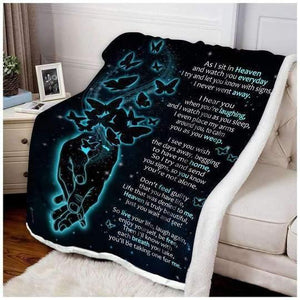 BLANKET - BUTTERFLY - AS I SIT IN HEAVEN - Family Presents