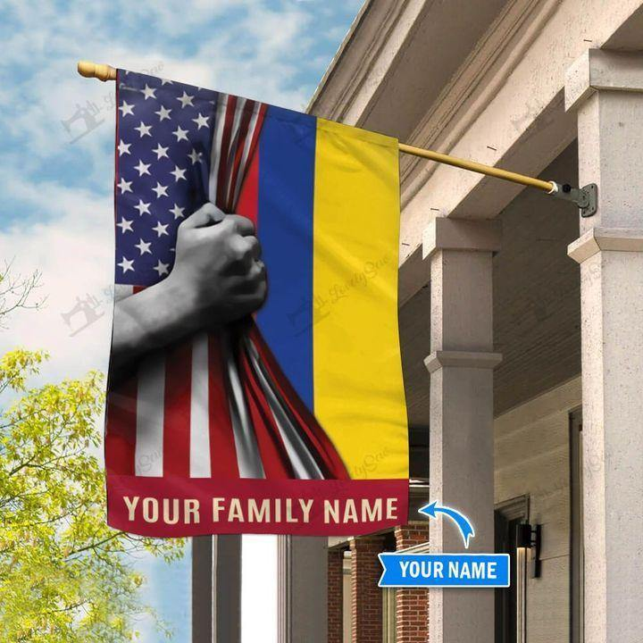 America Colombia Personalized House Flag  - Double Sided Flag