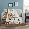 Dog Blanket Goldendoodle Dog Lover Doodle Mama Fleece Blanket