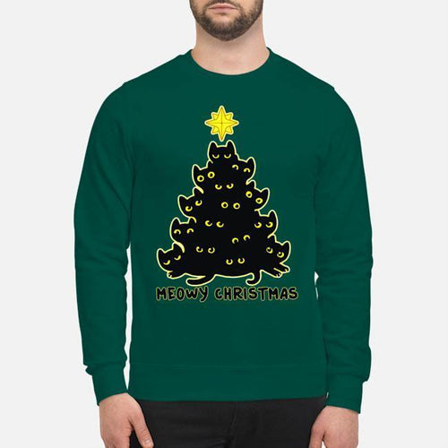 Meowy Christmas - Standard Long Sleeve - Family Presents - Great Blanket, Canvas, Clothe, Gifts For Family