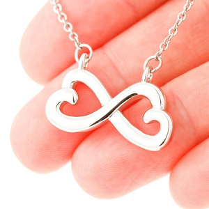 Infinity Heart Necklace - To My Wife - You Are The One I Want To Be With - Valentine gift to my wife