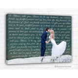 Anniversary Gift for him - Canvas Wedding Lyrics - Canvas - Family Presents - Great Blanket, Canvas, Clothe, Gifts For Family