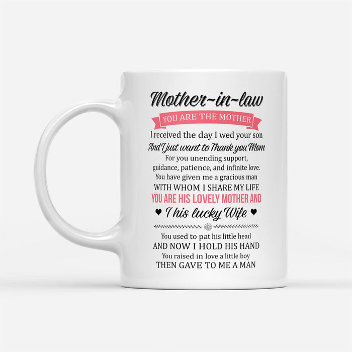 Mother in law you are the mother this lucky wife - White Mug