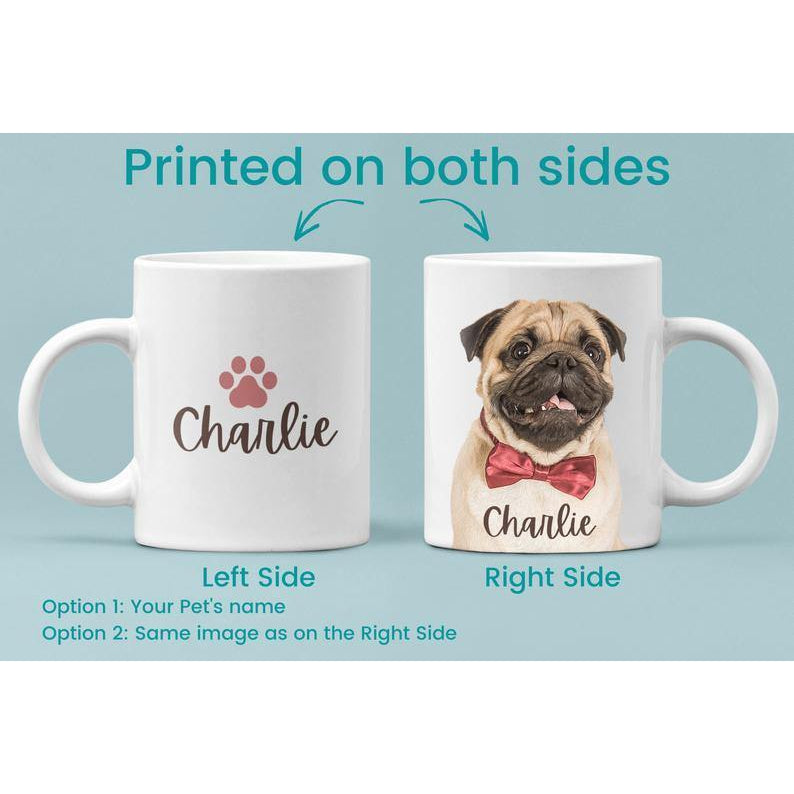 Custom Pet Coffee Mug - Custom Dog Mug - Dog Photo Mug - Dog Face Mug - Dog Lover Coffee Mug - Pet Coffee Mug - Photo Mug - Birthday Gift - Family Presents - Great Blanket, Canvas, Clothe, Gifts For Family