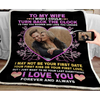 Personalized blanket - Perfect Valentine gift for Wife - I wish I could turn back the clock - Family Presents - Great Blanket, Canvas, Clothe, Gifts For Family