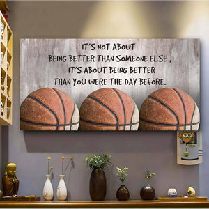 Customizable basketball Canvas, Canvas - It's not about being better - Family Presents - Great Blanket, Canvas, Clothe, Gifts For Family