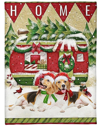 Beagle come back home Blanket - Gift for Christmas, Birthday