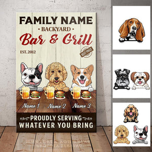 Personalized Dog Backyard Bar Gardening Canvas FB203 67O57 - Family Presents - Great Blanket, Canvas, Clothe, Gifts For Family