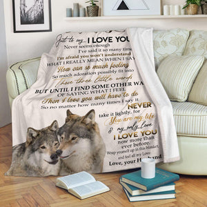Couple wolf blanket - To my only love - Your are my life and my only love - Valentine to my wife