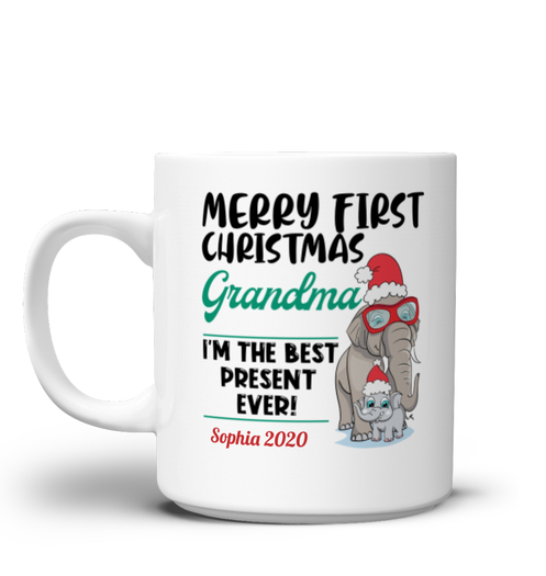 Merry Christmas Grandma - Personalized mug White Mug