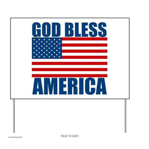 God bless America 3 - Yard Sign