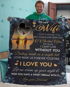 Special blanket for your Wife - Destiny made us the couple but Love made us forever together - Anniversary gift, for Valentine day, Christmas