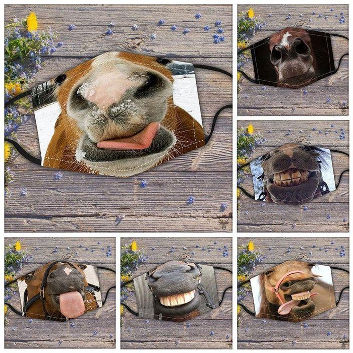 Horse Funny Cloth Mask