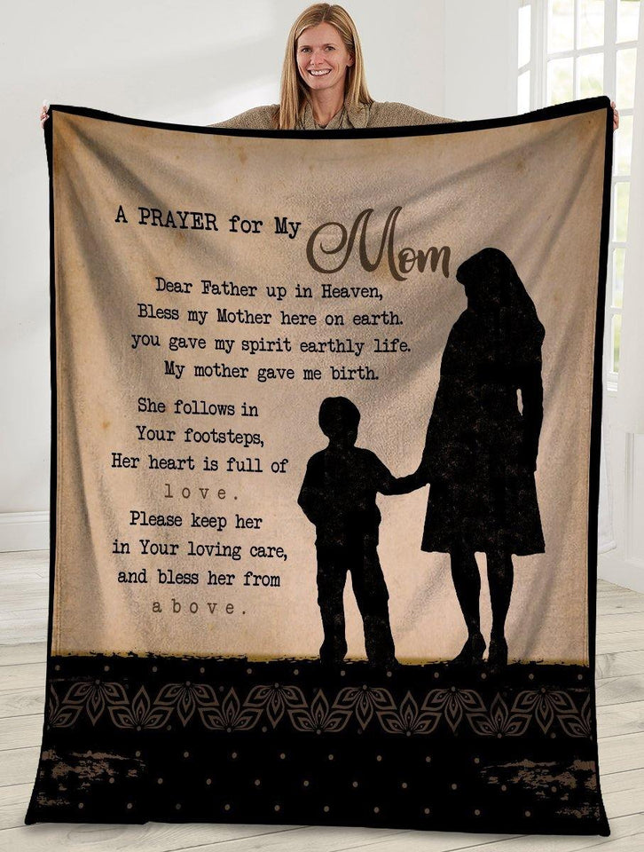 A Prayer For My Mom Mom And Son Ultra Soft Cozy Plush Fleece Blanket