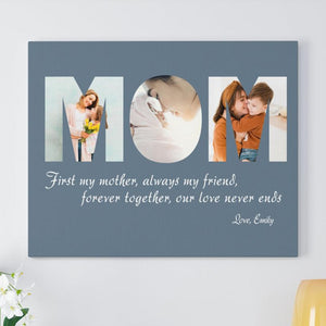 Personalized Our Love Never Ends Mom Poster Canvas Gift For Mom From Son Daughter