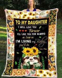 BLANKET - SLOTH - Daughter (Mom) - I Will Love You Forever