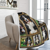 Dog Blanket 3D Bernese Mountain Dog Fleece Blanket