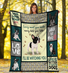 Dog Blanket Every Meal You Make Boston Terrier Dog Fleece Blanket - Family Presents - Great Blanket, Canvas, Clothe, Gifts For Family
