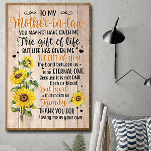Mother In Law Sunflower Poster