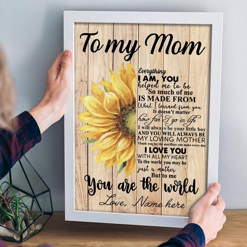 Personalized Sunflower Mum From Son Poster