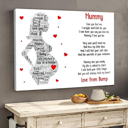 Family Panda Mummy poem poster canvas gifts from bump GST - Family Presents - Great Blanket, Canvas, Clothe, Gifts For Family