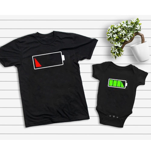 Father And Son Battery Family Matching Shirt Gift For New Dad