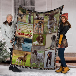 Dog Blanket German Shorthaired Pointer I Know I'm Just A Dog Fleece Blanket