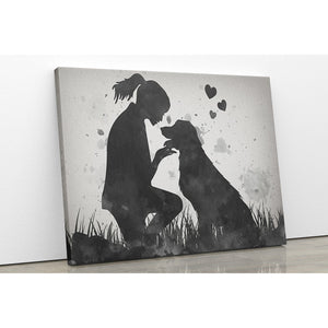 Golden Retriever Love Canvas