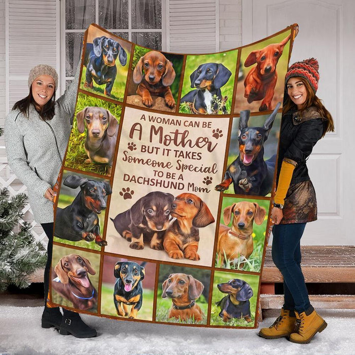 Custom Blanket Dachshund Blankets - Dog Gifts 2 - Fleece Blanket