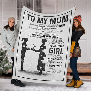 Customs Blanket To My Mum Blanket - Perfect Gift For Mom - Fleece Blanket - Family Presents - Great Blanket, Canvas, Clothe, Gifts For Family