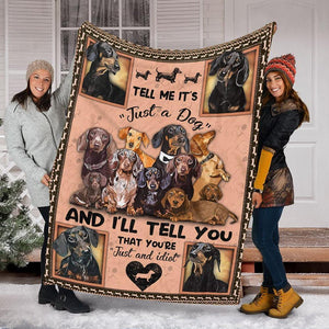 Custom Blanket Dachshund Dog Puppy Blanket 2 - Fleece Blanket