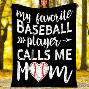 Custom Blanket Baseball Blanket - Fleece Blanket