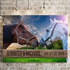 Horse Fence Names Premium Canvas - Family Presents - Great Blanket, Canvas, Clothe, Gifts For Family