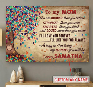 Personalized Gift For Mom I'Ll Love You Forever Poster