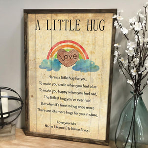 Personalized A Little Hug Poster