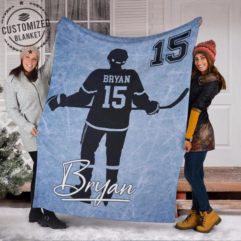 Custom Blanket Ice Hockey Field - Family Presents - Great Blanket, Canvas, Clothe, Gifts For Family