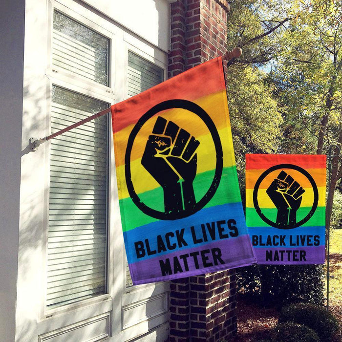 LGBT Black Lives Matter Rainbow Pride Tolerance House Flag, Garden Flag, House Flag Double Sided