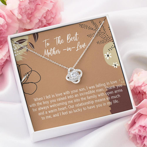 Mother's Day Jewelry To The Best Mother-in-law When I Fell In Love With Your Son