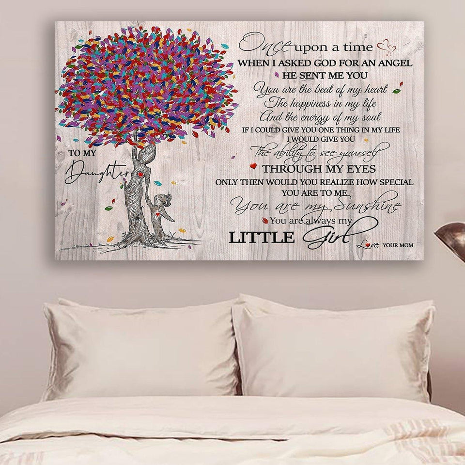 (LL31) Family Canvas - mom to daughter - You are my sunshine
