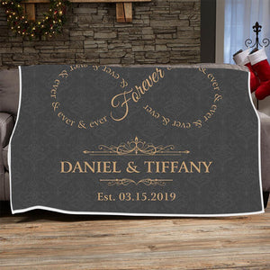 Personalized Blanket Forever & Ever