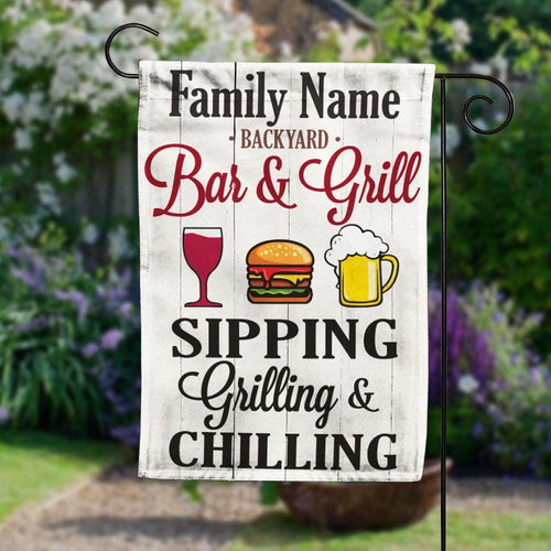 Personalized Backyard Patio Gardening Garden Flag JL35 85O58 - Family Presents - Great Blanket, Canvas, Clothe, Gifts For Family
