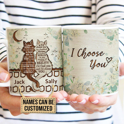 Personalized Cats I Choose You Mug - Family Presents - Great Blanket, Canvas, Clothe, Gifts For Family